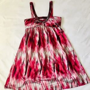 Max and Cleo Reddish-Pink Patterned Cocktail Dress
